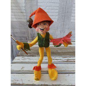 Annalee fall elf acorn Thanksgiving brush maple le